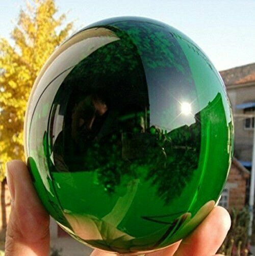 60MM Natural Green Obsidian Sphere Large Crystal Ball Healing Stone $11.78
