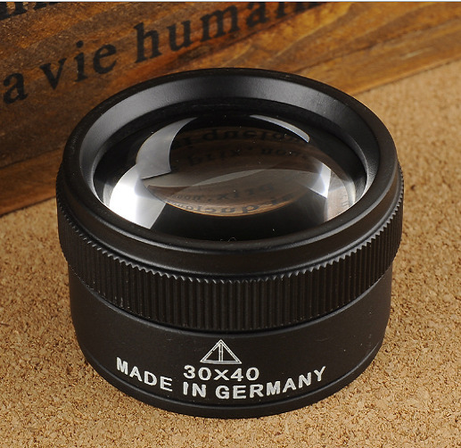 Magnifier Glass Lens Optics Loupes Portable For Jeweler Coins Stamps 30X x 40mm $9.82