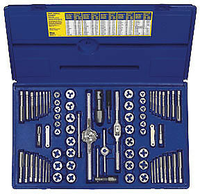 IRWIN HANSON 76 Pc. Combination SAE and Metric Tap and Die Set 26376