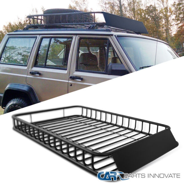 Universal Car SUV Van Travel Holder Roof Rack Top Luggage Cargo Carrier Basket