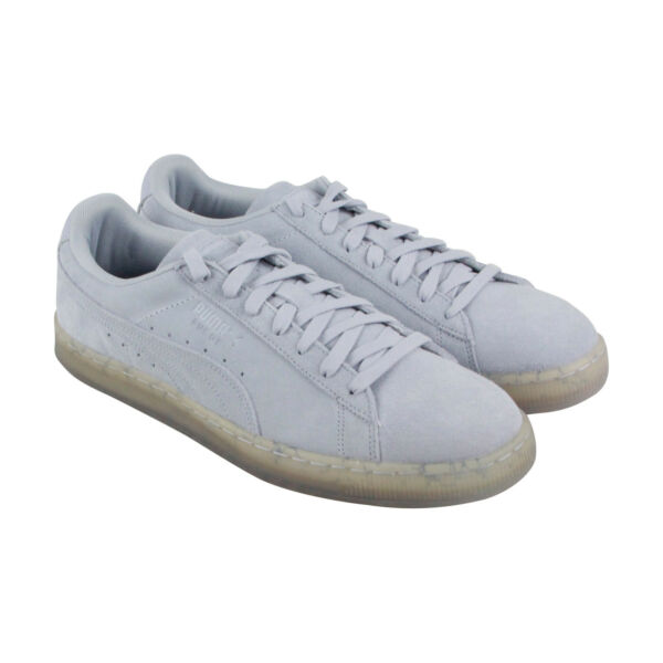 Puma Suede Classic Easter Fm Mens Blue Suede Low Top Lace Up Sneakers Shoes
