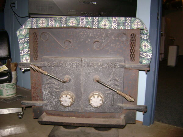 vintage schrader wood stove fire place quot;great conditionquot; $1250.00