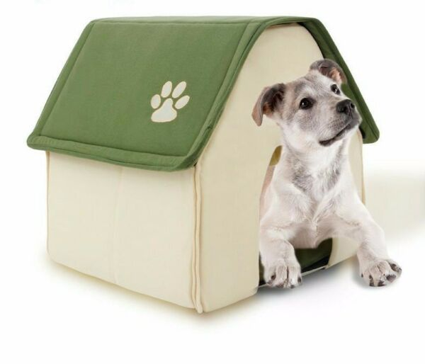 Dog Bed Soft Dogs Kennel House For Pets Cats Puppy Home Shape Winter Soft Beds $27.52
