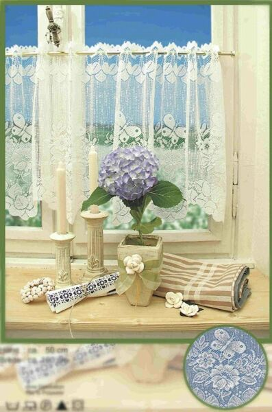 New Western Lace Kitchen Curtain Warp Knitted Jacquard Butterfly Coffee Curtain