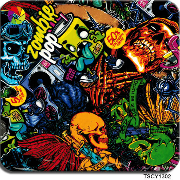 SKULL HYDROGRAPHICS FILM HYDRO DIPPING HYDROGRAPHIC CARTOON TSAUTOP