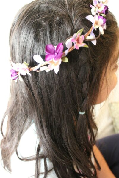 Flower Crown Wedding Headband Hairband Floral Garland Party For Kids One Size
