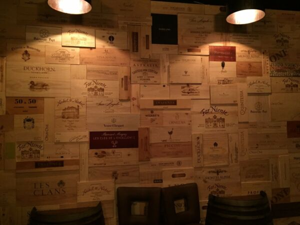 125 Assorted & Branded Wine Panels From Crates (75 SF) SidesEndsTops Wood