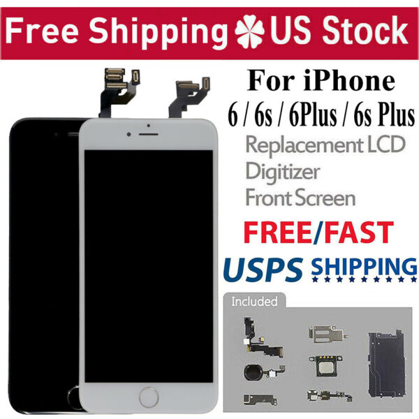 For iPhone 6S 6 LCD Digitizer Touch Screen Replacement With Home Button