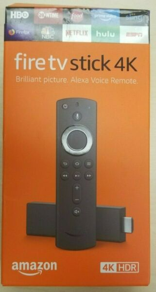 Amazon Fire TV Stick 4K w Alexa Voice Remote 2019 UNALTERED FACTORY SEALED