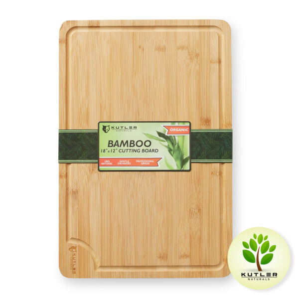 18quot;x12quot; Bamboo Cutting Board Large Wood Kitchen Butcher Carving Chopping Block