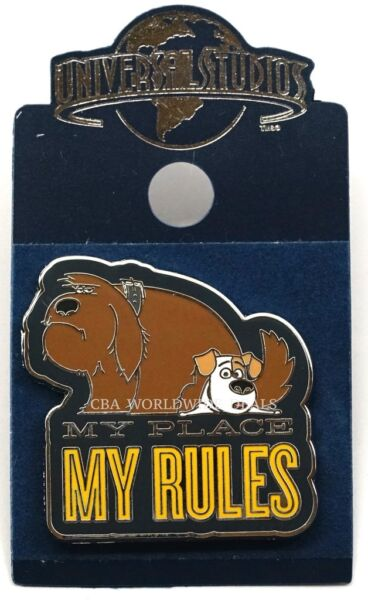 NEW Universal Studios The Secret Life of Pets Pin - My Place My Rules Max