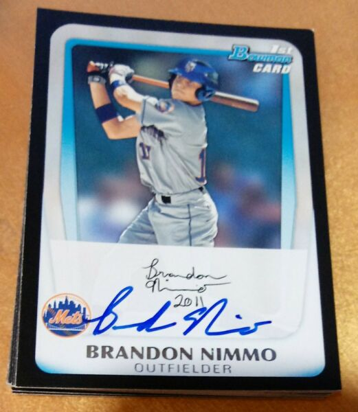 BRANDON NIMMO Signed 2011 Bowman Draft rookie card Autograph AUTO Mets QTY