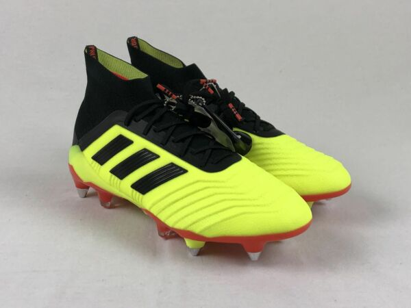 NEW adidas Predator 18.1 FG - Yellow Cleats (Men's Multiple Sizes)