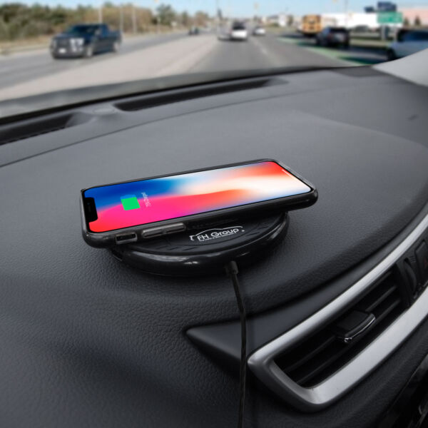 Wireless Charging Dock Car Home Office Phone Stand Holder Black