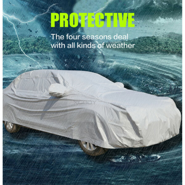 L Full Car Cover Waterproof Sun UV Ray Rain Snow Dust Outdoor Indoor Protection