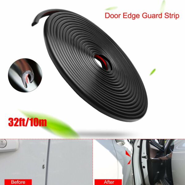 32ft Auto Car Truck Door Edge Guard Rubber Seal Strip Molding Trim Protector US