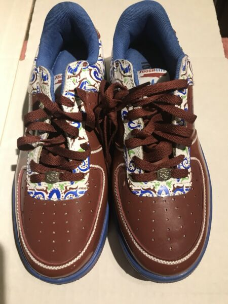 UGLY 👍 Tough City Shoes Sneakers Brown Blue Size 9 US Rare