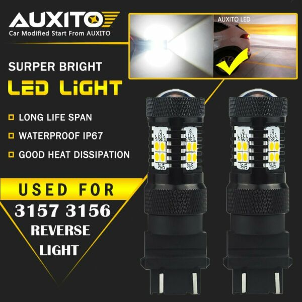 2X AUXITO 3157 3156 4057 Parking light bulb 6000K 2800LM LED14K For Ford GMC EA $15.99