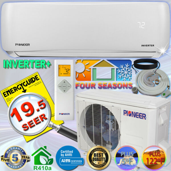 PIONEER 12000 BTU 19 SEER DC Inverter Ductless Mini Split Heat Pump Set 230V $758.00