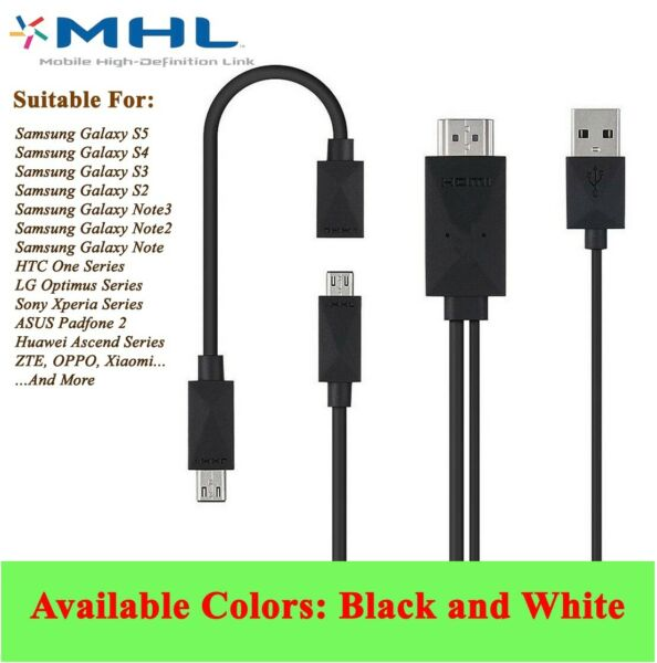 MHL Micro USB 5-pin 11 pin to HDMI 1080P HD Media TV HDTV Cable Adapter Cord AU