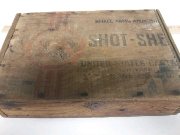 Vintage handmade Wooden Box Made from Ammo Shotgun Shell Box Old Great Condition $50.00