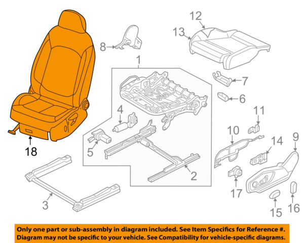 AUDI OEM 17-18 Q7 Front-Seat Assembly Right 4M0890KD0A