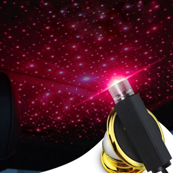 LED Car Interior Atmosphere Red Light  USB Charge Floor Decor Lamp Accessories
