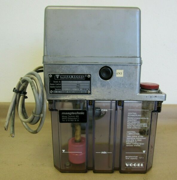 WILLY VOGEL 122 049 301 LUBRICATOR LUBE TANK 110220V FROM CHARMILLES EDM