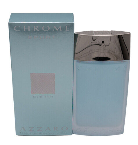 Chrome Sport by Azzaro 3.4 oz EDT Cologne for Men New In Box