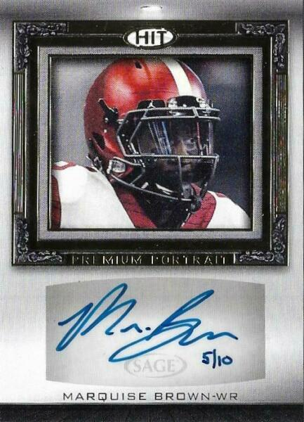 2019 SAGE Hit Football You PickChoose AUTO Parallel Insert Base *FREE SHIPPING*
