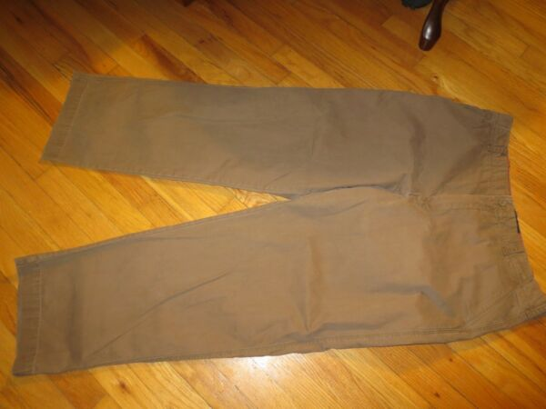 Men#x27;s IZOD Brown Rock Washed Relaxed Pants Size 38 X 34 Very Good Condition
