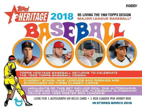 2018 TOPPS HERITAGE BASEBALL Singles 1-250 Complete Your Set Pick Card Build Lot