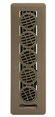 Deflector Floor Vent Register with 360 Degree Directional Air Flow 2.25