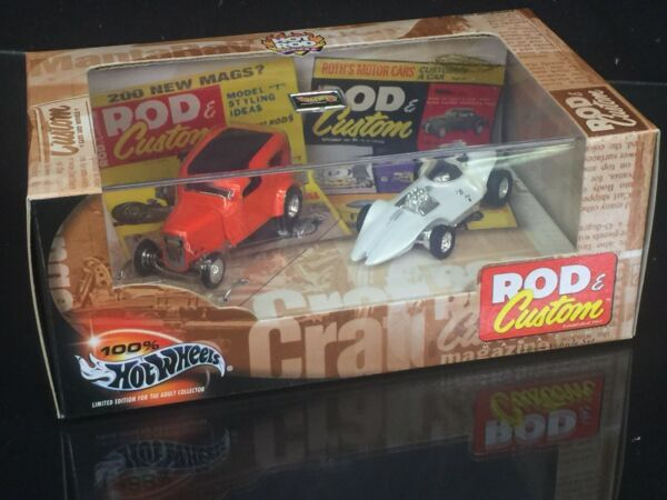 Rod amp; Custom Magazine 2 Car Set Hot Wheels Collectibles Limited Edition Free Shp $12.00
