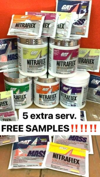GAT NITRAFLEX Pre-Workout 30 Servings - Choose Flavor and Size 5 SERVING FREE!!!