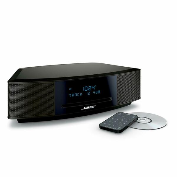 New Bose Wave Music System IV with Remote CD Player  AMFM Radio Espresso Black