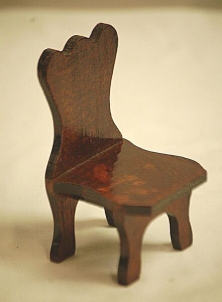 Classic Style Mini Hand Made Wooden Kitchen Chair Doll House Wood Furniture