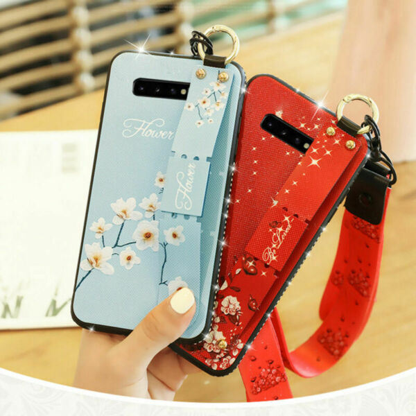 Bling Diamond Soft Stand Hand Strap Case Cover For Samsung Galaxy S10 PlusS9S8