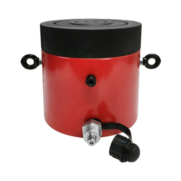 100 Ton Cap. Hydraulic Cylinder Ram 150mm Stroke Jack Ram Lifting With Lock Nut