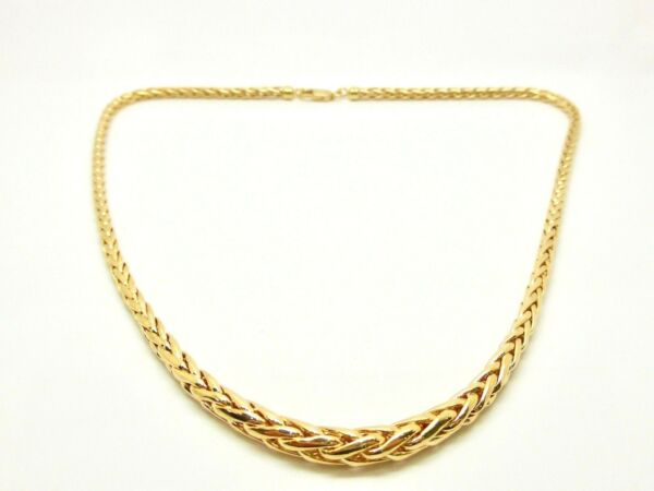 Necklace Mesh Palm Tree in Fall Yellow Gold 9 Carat 375000 17 1116in 13.15
