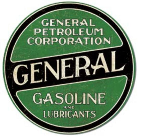 General gasoline round Metal tin sign gas home Garage Shop Bar Wall Decor #2246 $14.95
