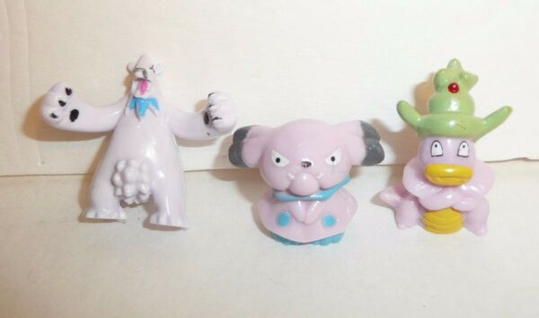 Lot of 3 Mini Pokemon Figures Small Tiny Pocket Monsters Toys Dog Shell Head $12.95