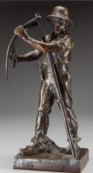 Henri Louis Levasseur (French 1853-1934) Faucheur circa 1910 Bronze Art Deco