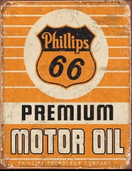 Phillips 66 Premium Oil Metal Tin Sign Gas Home Garage Shop Bar Wall Decor #1996 $14.95