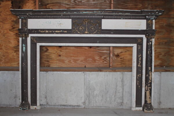 Large AdamsFederal Style Fireplace Mantel Mantle from Boston Home Urn Swags...