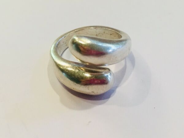 Sterling Silver Ethnic Size 6 Mexico 55 Band Ring Double Wrap Estate 925 $28.80