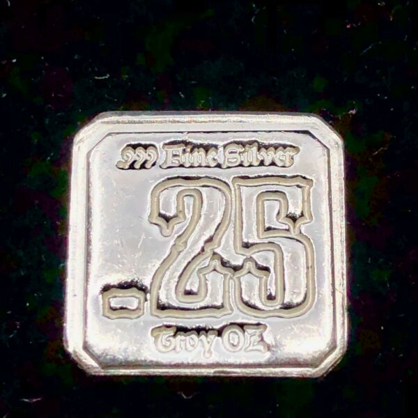 2013 14 Troy Oz. .99 Fine Silver 'Suns of Liberty' .25 ounce Hand Poured Square $13.00
