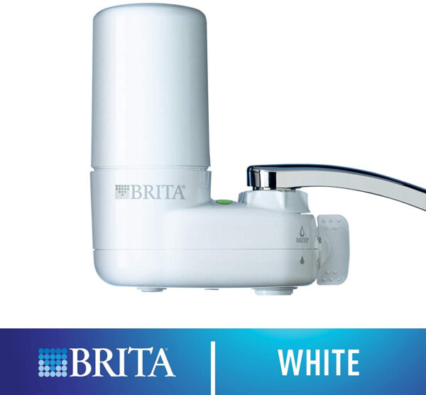 NEW Brita Basic On Tap Faucet Water Filter System 1 Filter Replaces 750 bottles