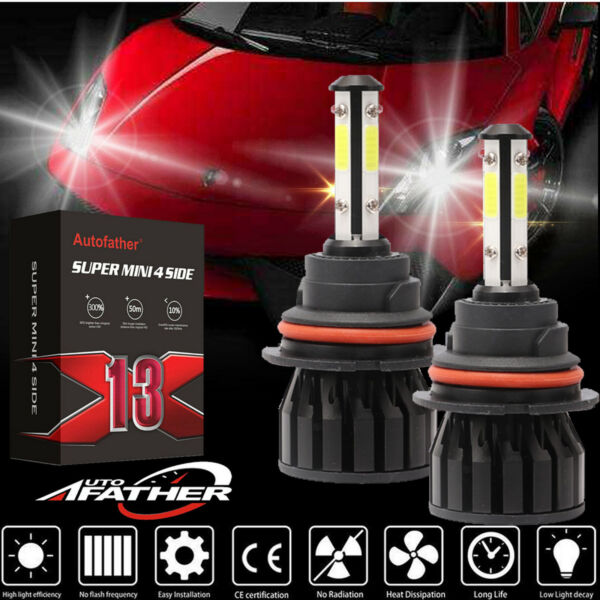 Pair 9007 LED Headlight Bulbs Cree 98000LM For Nissan Xterra Frontier Versa Note