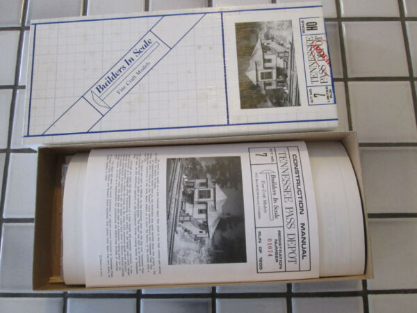 builders in scale tennesee pass depot wood kit HO scale $59.50
